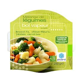 Bol vapeur broccoli,cavolfiori, carote
