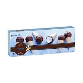10 mini coni vaniglia
