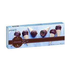 10 mini coni cioccolato