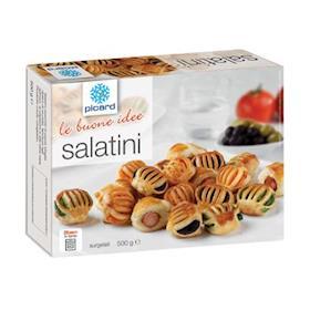 Salatini misti: olive, peperoni, wurstel, spinaci