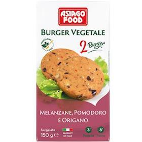 Burger Melanzane, pomodoro e origano