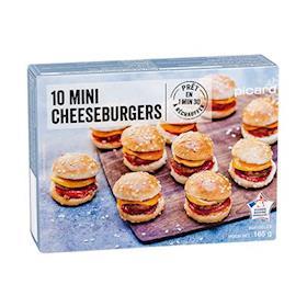 10 mini cheeseburger