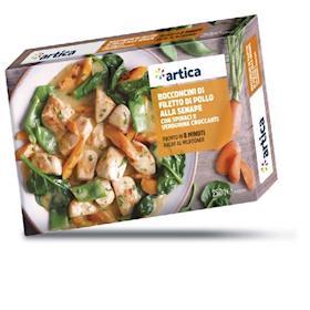 Bocconcini di pollo alla senape con verdurine croccanti
