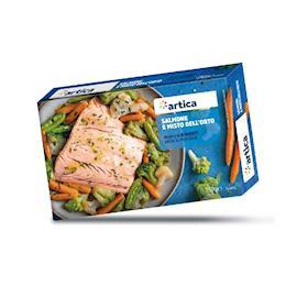 Salmone e misto dell'orto