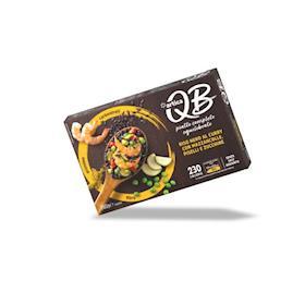 QB Riso nero al curry con mazzancolle, piselli e zucchine